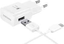 Samsung Chargeur avec Câble USB-C 1,5 m Adaptive Fast Charge 15 W Blanc