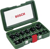 Bosch 15-delige Frezenset Hout