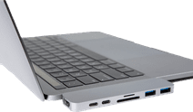 Hyper USB C adapter With Thunderbolt 3 Silver