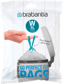 Brabantia Garbage bags Code W - 5 Liter (60 pieces)