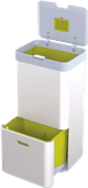 Joseph Joseph Intelligent Waste Totem 60 Liter Zilver