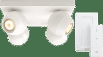 Philips Hue Buckram 4-Spot Wit met Dimmer