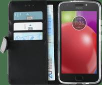 Azuri Coque à rabat Portefeuille magnétique pour Motorola Moto E4 Noir