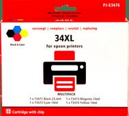 Pixeljet 34XL Cartouches Pack Combiné