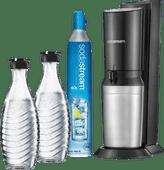 SodaStream Crystal Megapack Noir + 2 Carafes