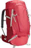 Vaude Wo Asymmetric 48L + 8L Indian Red