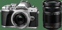 Olympus OM-D E-M10 Mark III Boîtier Argent + 14-42 mm Argent + 40-150 mm Noir