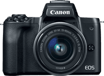 Canon EOS M50 Body Zwart + 15-45mm f/3.5-6.3 IS STM