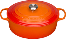 Le Creuset Poêle à Frire Ovale 31 cm Orange-rouge