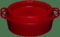 Le Creuset Doufeu Poêle à Frire Ovale 32 cm Rouge Cerise