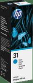 HP 31 Inktflesje Cyaan