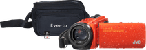 JVC GZ-R495DEU Orange + Memory Card + Bag