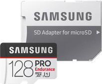Samsung micro SDXC PRO Endurance 128 Go 100 MB/s + Adaptateur SD