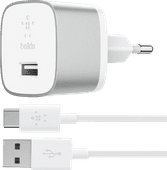 Belkin Charger with USB-C Cable 18 Watts Quick Charge 3.0 White