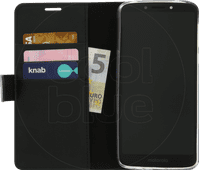 Azuri Coque à Rabat Portefeuille Magnétique Motorola Moto E5 Plus Noir