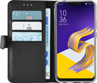 Azuri Coque à rabat Portefeuille Magnétique Asus Zenfone 5 Noir