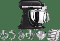KitchenAid Artisan Mixeur 5KSM175PS Noir volcan + Kit rouleau à pâtes