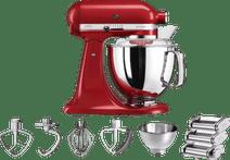 KitchenAid Artisan 5KSM175PS Rouge empire + Kit rouleau à pâtes
