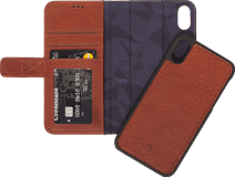 Decoded 2-in-1 Wallet Bookcase en Cuir Apple iPhone Xs Max Brun