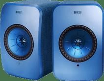 KEF LSX wireless stereo systeem Blauw
