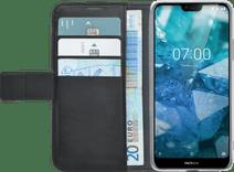 Azuri Wallet Book Case Magnétique Nokia 7.1 Noir