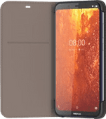 Nokia 8.1 Slim Flip Book Case Gris