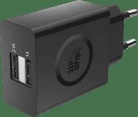 BlueBuilt Chargeur 3.4 A avec 2 ports USB Noir
