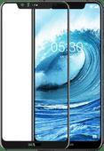 Azuri Protège-écran en Verre trempé Nokia 5.1 Plus Noir