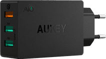 Aukey Charger with Micro Usb Cable 3 Usb Ports 18W Quick Charge