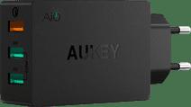Aukey Chargeur avec Câble Micro USB 3 ports USB 18 W Quick Charge