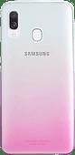 Samsung Galaxy A40 Gradation Cover Back Cover Pink / Transparent