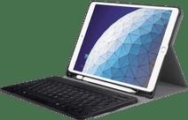 Just in Case Premium Housse Clavier Bluetooth pour Apple iPad Air (2019) Noir AZERTY