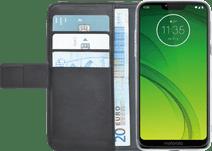 Azuri Wallet Book Cover Magnétique Motorola Moto G7 Power Noir