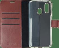 Valenta Booklet Gel Skin Samsung Galaxy A40 Brown Leather