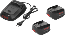 Bosch 18V 1.3-Ah Li-Ion Battery (2x) + Battery Charger