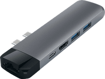Satechi Type-C Pro Hub Ethernet & 4K HDMI Gray