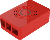Multicomp Pro Raspberry Pi 4 behuizing - Power knop - Rood