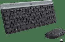 Logitech MK470 Slim Draadloos Toetsenbord en Muis Grijs AZERTY