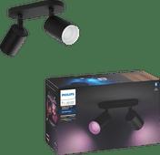 Philips Hue Fugato 2-Spot White & Colour Bluetooth zwart