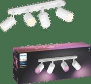 Philips Hue Fugato 4-Spot White & Colour Bluetooth wit