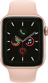 Apple Watch Series 5 44mm Goud Aluminium Roze Sportband