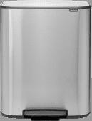 Brabantia Bo Pedal Bin 60 liter RVS Fingerprint proof