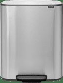 Brabantia Bo Pedal Bin 2 x 30 Litres Inox Anti-traces de Doigts