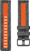 Fitbit Versa 2 Woven Siliconen Horlogeband Oranje L