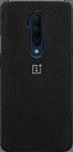OnePlus 7T Pro Nylon Bumper Case Back Cover Noir