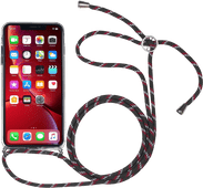 StilGut iPhone Xr Back Cover met Koord Transparant