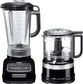 KitchenAid Diamond Blender Onyx Zwart + Hakmolen