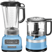 KitchenAid Diamond Blender Velvet Blauw + Hakmolen