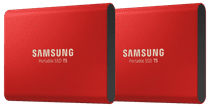 Samsung Portable SSD T5 500GB Duo Pack Rood