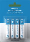 Veripart Oplaadbare NiMH AAA-batterijen 4 stuks